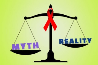 Facts Myths about Aids in hindi